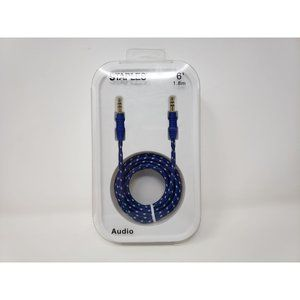 Staples 6ftBraided Auxiliary Audio Cable